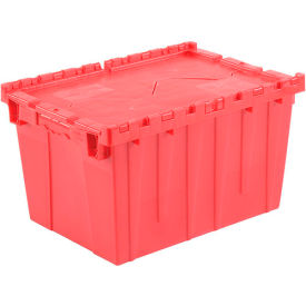 DC-2115-12RED Plastic Storage Totes - Shipping Hinged Lid  DC2115-12 21-7/8 x 15-1/4 x 12-7/8 Red