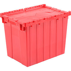 DC-2115-17RED Plastic Storage Totes - Shipping Hinged Lid  DC2115-17 21-7/8 x 15-1/4 x 17-1/4 Red