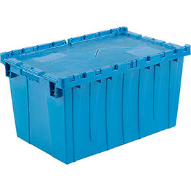 DC-2515-14BLUE Plastic Shipping Container - Hinged Lid Storage DC2515-14 25-1/4 x 16-1/4 x 13-3/4 Blue