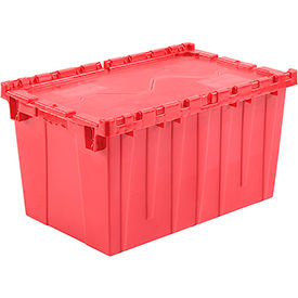 DC-2515-14RED Plastic Storage Totes - Shipping Hinged Lid DC2515-14 25-1/4 x 16-1/4 x 13-3/4 Red