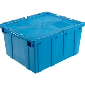 DC2420-12BLUE Plastic Shipping Container - Hinged Lid Storage DC2420-12 23-3/4 x 19-1/4 x 12-1/2 Blue