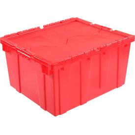 DC2420-12RED Plastic Storage Totes - Shipping Hinged Lid  DC2420-12 23-3/4 x 19-1/4 x 12-1/2 Red