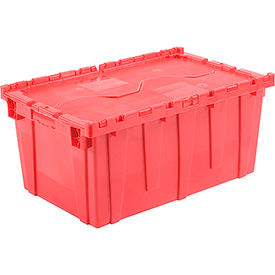 DC2717-12RED Plastic Storage Totes - Shipping Hinged Lid  DC2717-12 27-3/16 x 16-5/8 x 12-1/2 Red