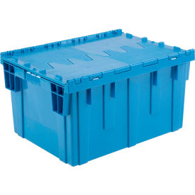 DC2820-15BLUE Plastic Shipping Container - Hinged Lid Storage DC2820-15 28-1/8 x 20-3/4 x 15-5/8 Blue