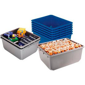TUB2419-9BL Quantum QuanTub Nesting Tote TUB12419-9 - 24-1/2 x 19 x 9-1/2 USDA FDA Approved, Blue