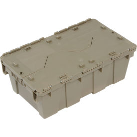 DC2012-07BGRAY Plastic Storage Container - Attached Lid DC2012-07 19-5/8 x 11-7/8 x 7 Gray