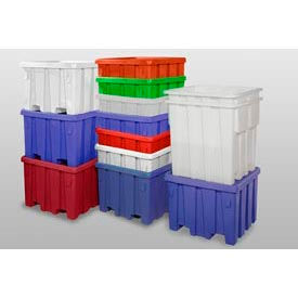 P333RED MODRoto Bulk Container With Lid P333 - 44x44x44, Red