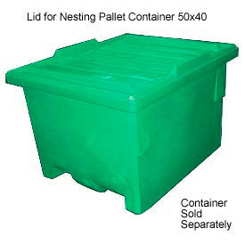 Bayhead KP-LID-GREEN Lid For Nesting Pallet Container 50x40 Green