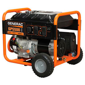 generac® portable generator w/ recoil start, gasoline, 5500 rated watts Generac® Portable Generator W/ Recoil Start, Gasoline, 5500 Rated Watts