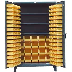 46-BBS-243 Strong Hold; Heavy Duty Bin Cabinet 46-BBS-243 - With 164 Bins 48x24x78