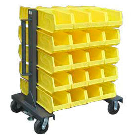 3.33.2-BR-40CA Strong Hold; Heavy Duty Mobile Bin Rack 3.33.2-BR-40CA - Double-Sided With 40 Bins