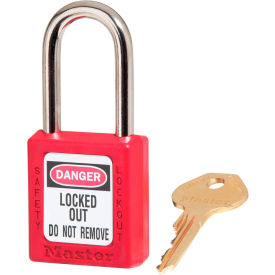 410-RED Master Lock; Safety 410 Series Zenex; Thermoplastic Padlock, Red, 410RED