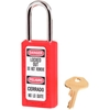 411-RED Master Lock; Safety 411 Series Zenex; Thermoplastic Padlock, Red, 411RED