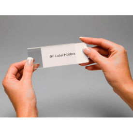 "443521 Tri-Dex Label Holder 13/16"" x 3"" for Shelf Bin 7x18x4 Price per Pack of 25"