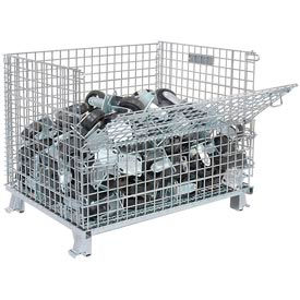 "GC324028S4 Folding Wire Container GC324028S4 40x32x34-1/2 2"" Mesh Size 3000-4000 Lb. Cap"