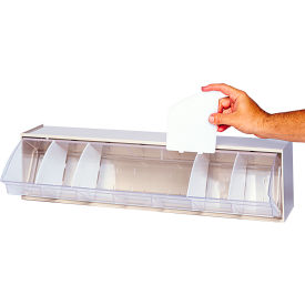 Quantum Clear Divider DIV400 For Dividable Tip Out Bin Pack of 4