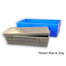 Bayhead Storage Container with Lid BS-48 - 48 x 5 x 3-1/2 Blue