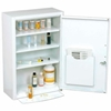 "269940 Global; Medicine Cabinet With Pull-Out Shelf 18""W x 8""D x 27""H, White"
