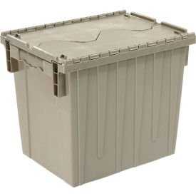 DC1813-15 Gray Plastic Storage Container - Attached Lid DC1813-15 18 x 13 x 15 Gray