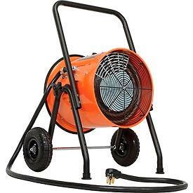 PS-10241P Salamander Heater ? Portable Electric Fan Forced - With 8L Cord - 240V 10KW 1 Phase 41.7 Amps