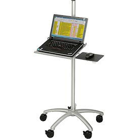 PA-24NC Mobile Height Adjustable Laptop Computer Workstation Security Cart