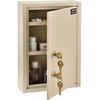 "670149 Global; Medical Security Cabinet with Double Key Locks, 8""W x 2-5/8""D x 12-1/8""H, Beige"