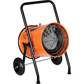 PS-30483 Electric Salamander Heater - 30 KW Portable Fan Forced 480V - 3 Phase 36 Amps