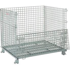 493394 Folding Wire Container 48x40x42-1/2 3000 Lb Capacity