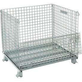 493396 Folding Wire Container 40x32x34-1/2 3000 Lb Capacity