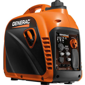 generac® portable inverter generator w/ recoil start, gasoline, 1700 rated watts Generac® Portable Inverter Generator W/ Recoil Start, Gasoline, 2200 Watts