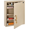 "436945 Global; Medical Security Cabinet with Double Key Locks, 14""W x 3-1/8""D x 17-1/8""H, Beige"