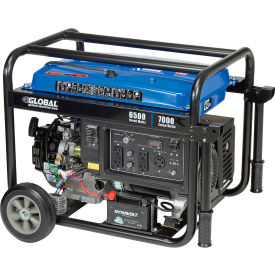 global industrial™ portable generator w/ electric/recoil start, gasoline, 6500 rated watts Global Industrial™ Portable Generator W/ Electric/Recoil Start, Gasoline, 6500 Rated Watts
