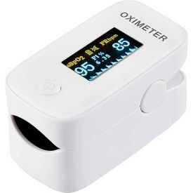 global industrial™ fingertip pulse oximeter with oled display