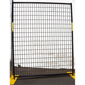 welded wire black powder coat fence - 5wx6h 8 panel kit Welded Wire Black Powder Coat Fence - 5Wx6H 8 Panel Kit