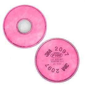 70070710945 3M; Particulate Filter 2097/07184(AAD), P100 Respiratory Protection, 2/PK