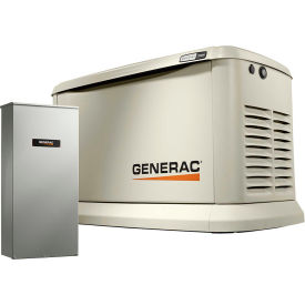 Generac 7043,19.5/22kW,120/240 1-Phase,Air Cooled Guardian Generator,NG/LP,Alum Encl.,200A SE Switch