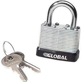 336375U General Security Laminated Steel Padlock with Bumper and Two Keys - Keyed Differently