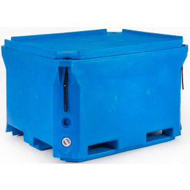 "bonar plastics polar insulated box with lid pb1000 - 2000 lbs. capacity 58""l x 46""w x 35""h, blue Bonar Plastics Polar Insulated Box with Lid PB1000 - 2000 Lbs. Capacity 58""L x 46""W x 35""H, Blue"