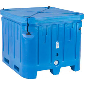 "bonar plastics polar insulated box with lid pb1545 - 1500 lbs. capacity 48""l x 43""w x 36""h, blue Bonar Plastics Polar Insulated Box with Lid PB1545 - 1500 Lbs. Capacity 48""L x 43""W x 36""H, Blue"