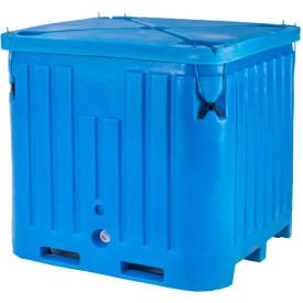 "bonar plastics polar insulated box with lid  pb2145 - 2100 lbs. capacity 48""l x 43""w x 47""h, blue Bonar Plastics Polar Insulated Box with Lid  PB2145 - 2100 Lbs. Capacity 48""L x 43""W x 47""H, Blue"