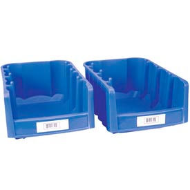 "BB13 Label Holder, Bin, 1"" x 3"", Clear, Price for Pack of 25"