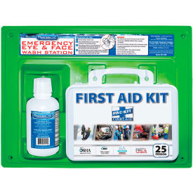 24-500 Physicians Care Eye Flush Solution with First Aid Kit, 24-500