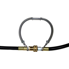 "air systems hose-to-tool whip check safety cable, fits 1/2""-1-1/4"" od, 20"" l, aswhiptl20"