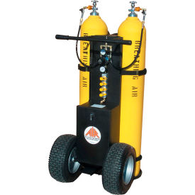 2-cylinder multi-pak™ lg cylinder air cart, 4 outlets, 5000 psi, alarm whistle, mp-2300enb