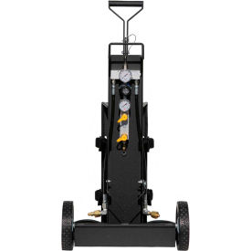 air systems 2-cylinder multi-pak™ small cylinder air cart, 2 outlets, 4500 psi, hansen, mp-2h
