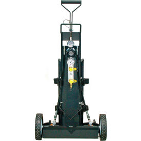 air systems 2-cylinder multi-pak™ small cylinder air cart, 2 outlets, 2400 psi, hansen, mp-2l