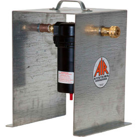 air systems high capacity portable compressor pre-filter w/ stand & auto-drain, 300 cf, pf-240