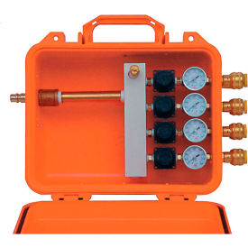 air systems 4-outlet remote point-of-attachment box, independent regulator, schrader fitting, poa-4r