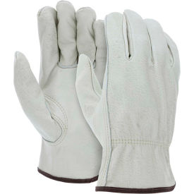 3215L MCR Safety 3215L Leather Drivers Gloves, Unlined Select Grain Cow Leather, Large