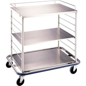"blickman occ3 open case cart with solid top and shelf, 42""l x 29""w x 40-1/4""h Blickman OCC3 Open Case Cart with Solid Top and Shelf, 42""L x 29""W x 40-1/4""H"
